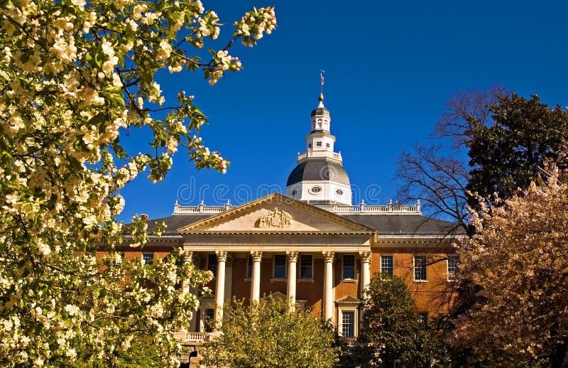 Het historische Capitool van de Staat van Maryland stock foto's