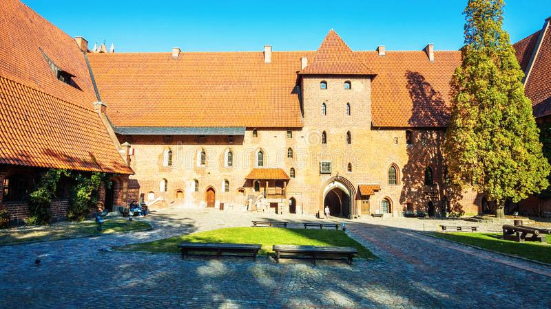 Het historische centrum van Krakau - van Polen ` s, een stad met oude architectuur stock afbeelding