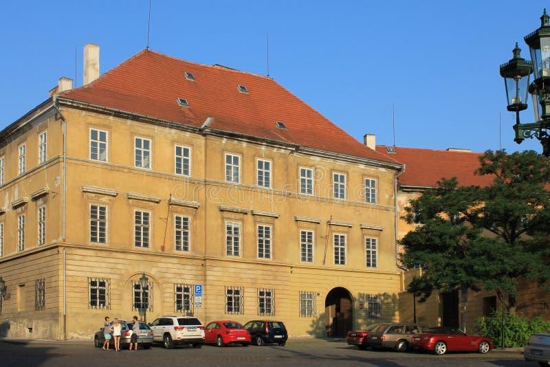 Het historische centrum van Praag, Tsjechische Republiek in de ochtend zonder mensen royalty-vrije stock foto's