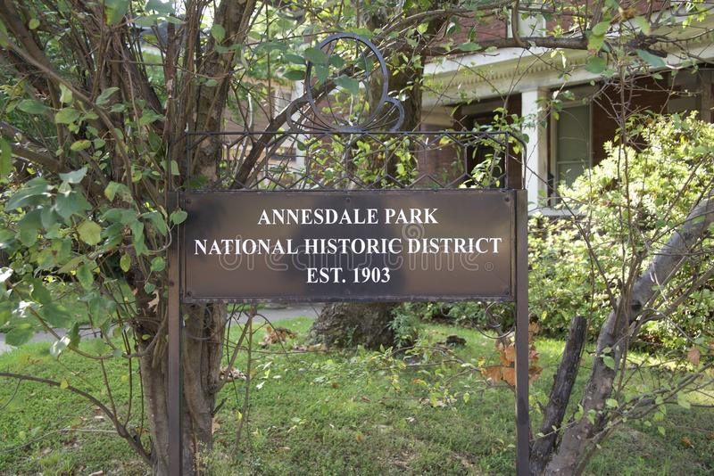 Het Historische District van het Annesdalepark, Memphis, Tennessee stock foto's