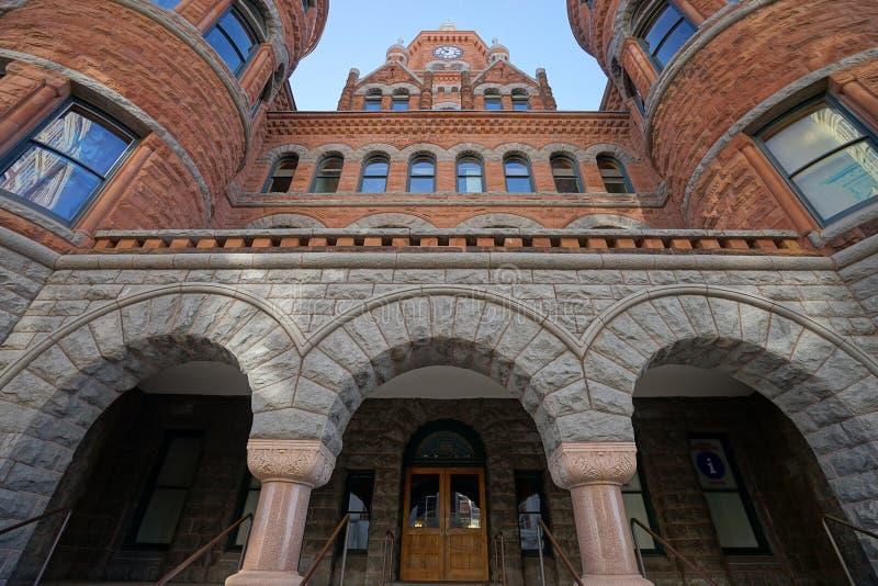 Het historische gerechtsgebouw Texas van Dallas stock fotografie