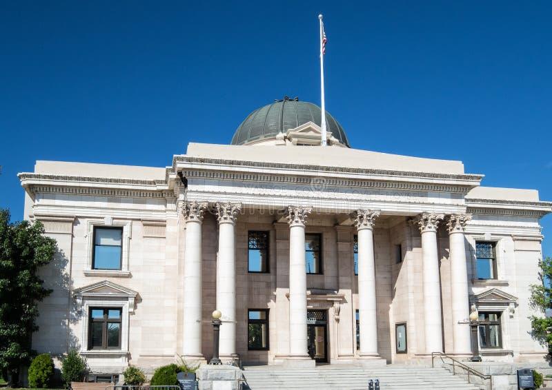 Het historische gerechtsgebouw van de Washoeprovincie, Nevada royalty-vrije stock foto's