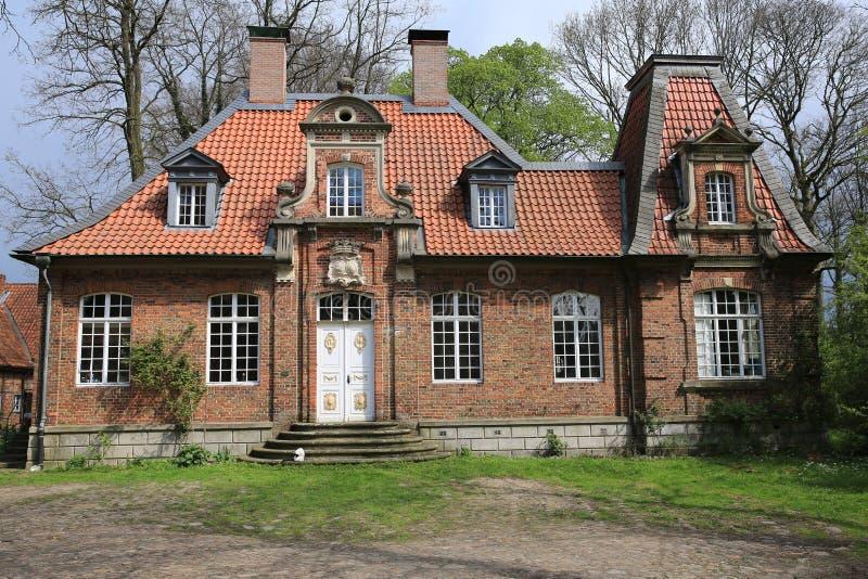 Het historische Herenhuis Sassenberg in Westfalen, Duitsland stock foto's