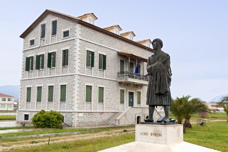 Het historische huis van Lord Byron's in Griekenland stock foto's