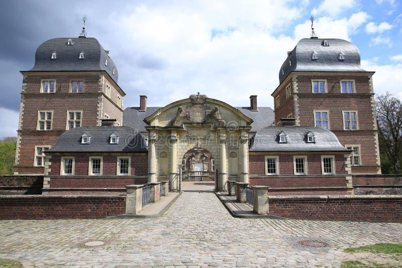 Het historische Kasteel Ahaus in Westfalen, Duitsland stock fotografie
