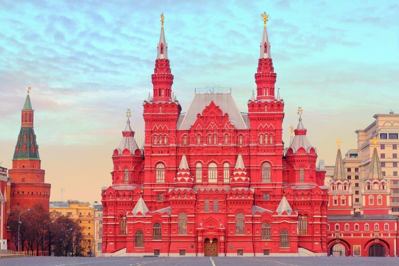 Het Historische Museum van de staat in Moskou, Rusland stock afbeelding