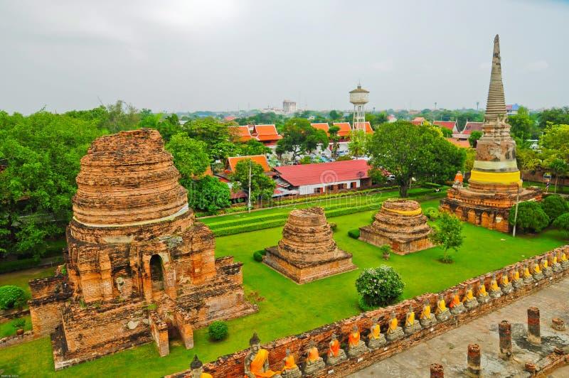 Het Historische Park van Ayutthaya royalty-vrije stock afbeeldingen
