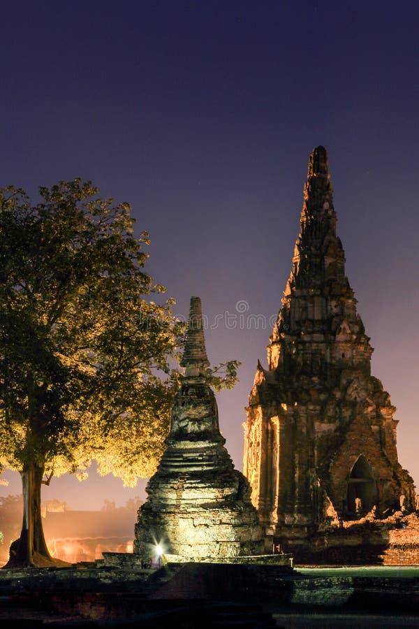 Het Historische Park van Ayutthaya stock fotografie