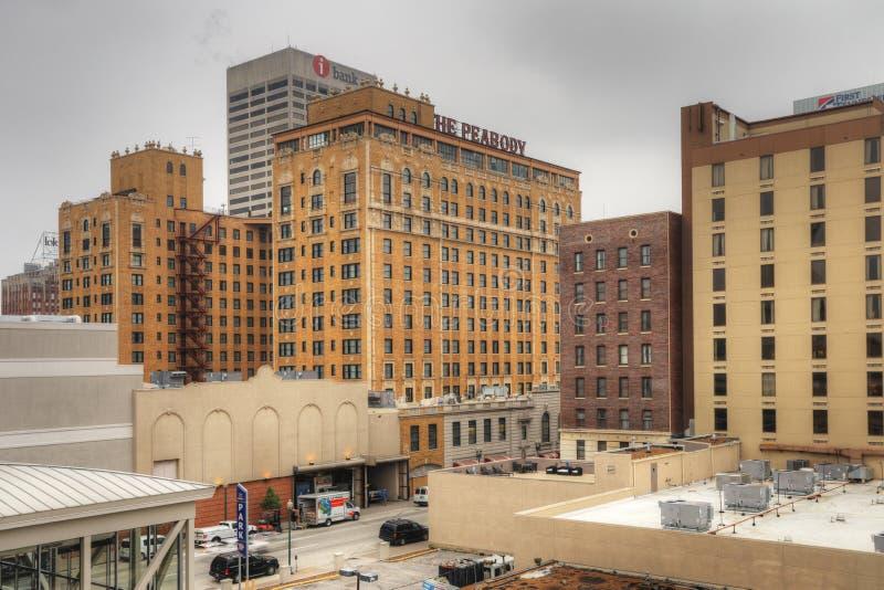 Het historische Peabody-Hotel in Memphis, Tennessee royalty-vrije stock afbeelding