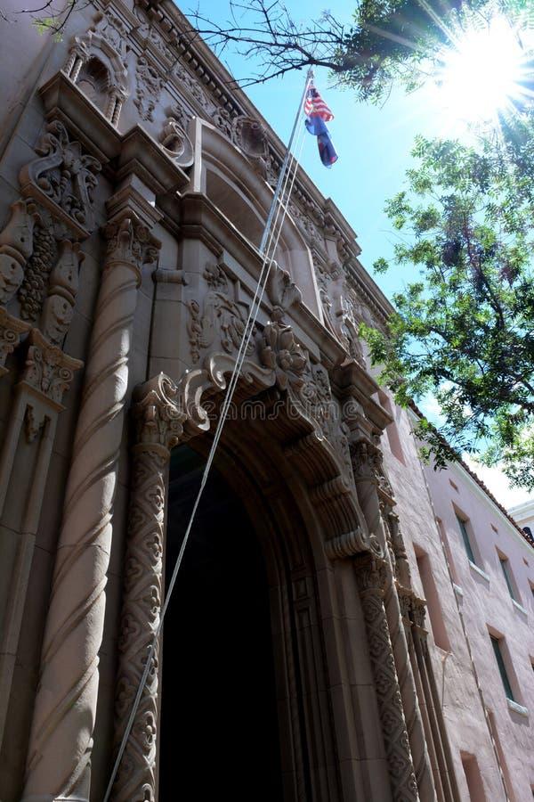 Het historische Pima-Gerechtsgebouw van de Provincie royalty-vrije stock fotografie