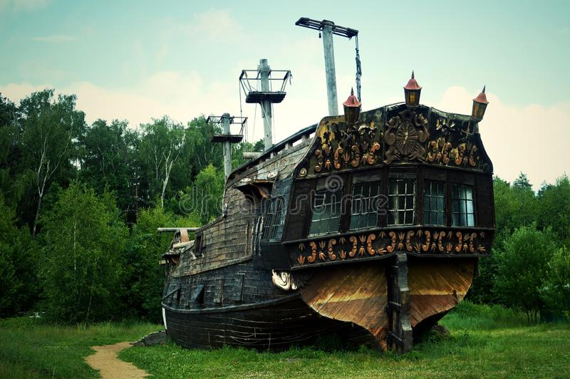 Het historische schip - het museum royalty-vrije stock foto