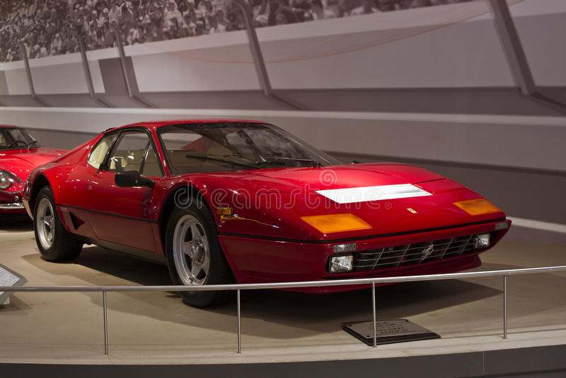 Het Historische Voertuig van Ferrari stock afbeeldingen