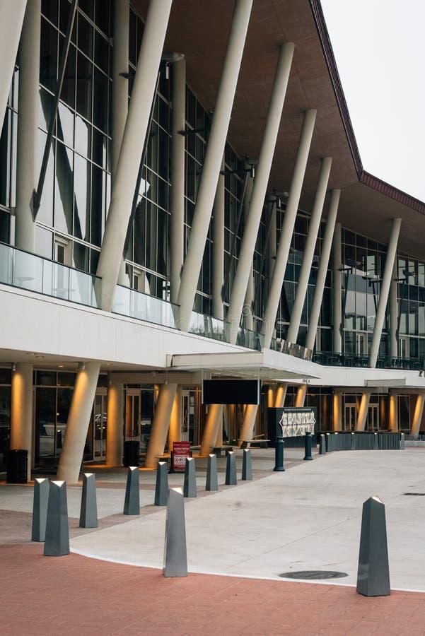 Het Hobbycentrum voor Uitvoerende kunsten in Houston van de binnenstad, Texas royalty-vrije stock afbeeldingen