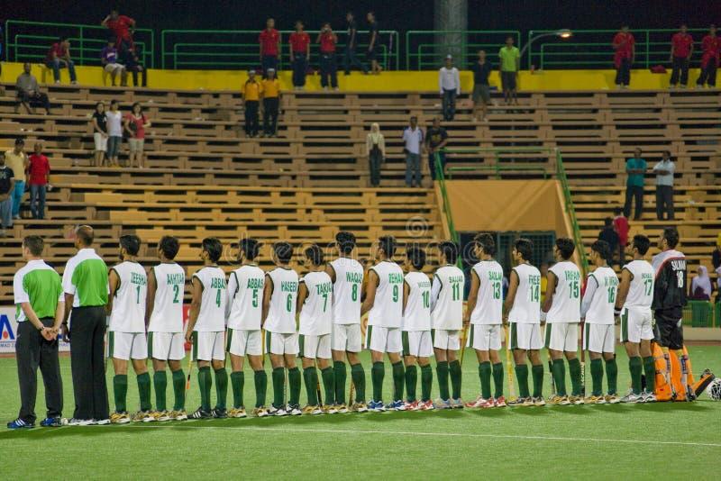 Het Hockey 2009 van de Kop van Azië van mensen - Pakistan stock foto's