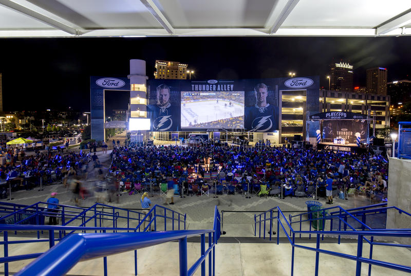 Het Hockey van Tampa Bay Lightningbeslissingsmatches royalty-vrije stock foto's