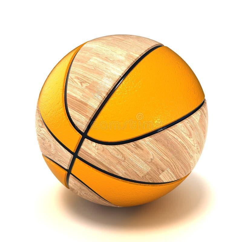 Het hof en de bal van het basketbal royalty-vrije illustratie