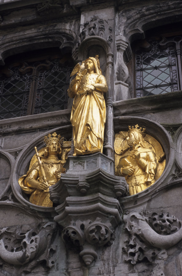 Het hof van Brugge stock afbeeldingen