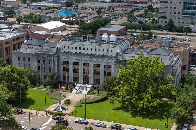 Het Hof van de Hindsprovincie huis in de Mississippi stock foto