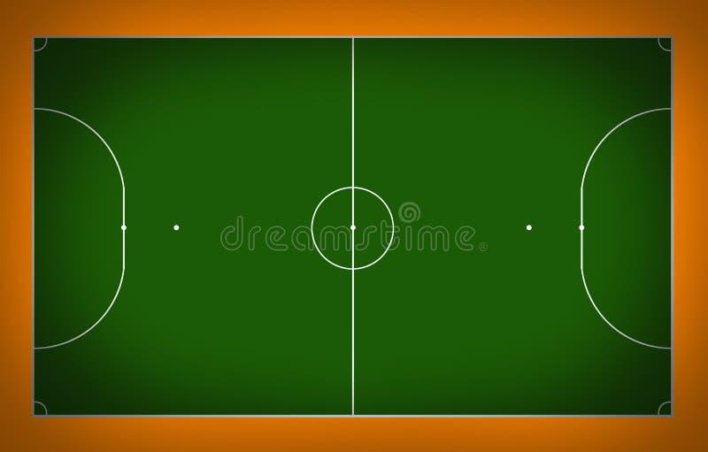 Het hof van Futsal royalty-vrije illustratie