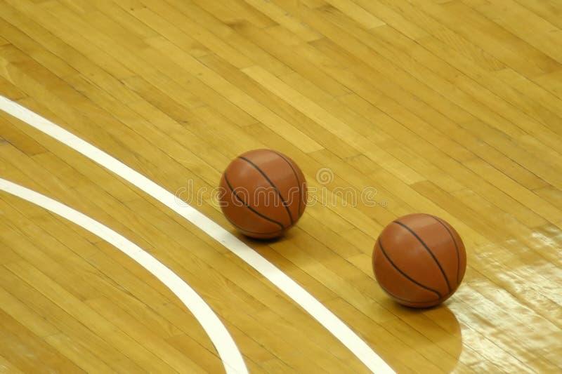 Het hof van het basketbal royalty-vrije stock afbeelding