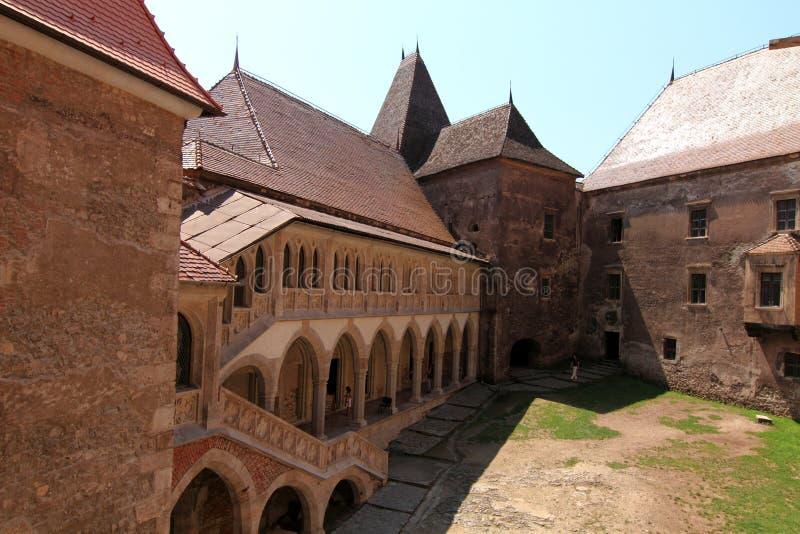 Het hof van het kasteel stock foto