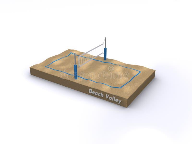 Het hof van het Salvo van het strand stock illustratie