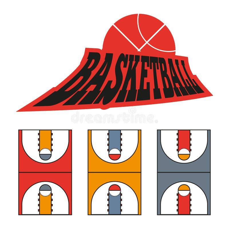 Het Hof van het sportenspel Tekening vector illustratie