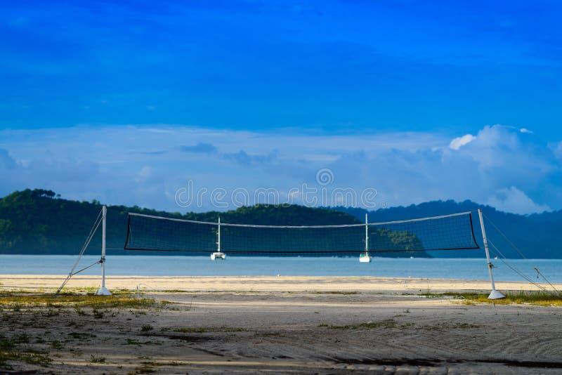 Het Hof van het strandsalvo stock foto's