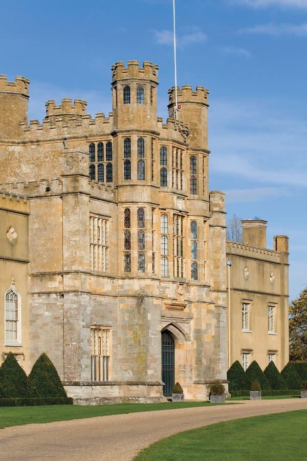 Het hof warwickshire van Coughton stock afbeeldingen