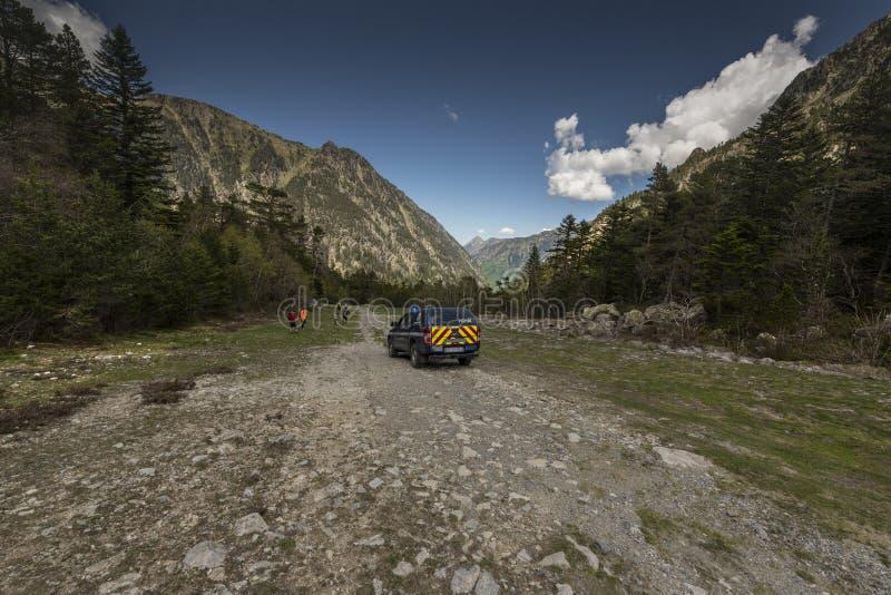 Het Hoge peloton van de Berggendarmerie (PGHM stock afbeelding