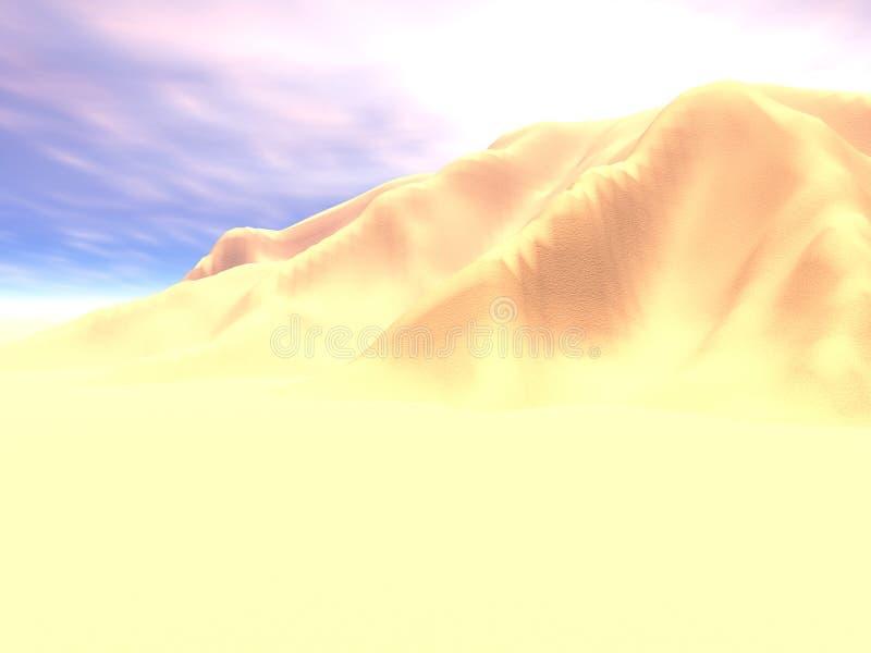 Het hoge Zand van de Middag royalty-vrije illustratie