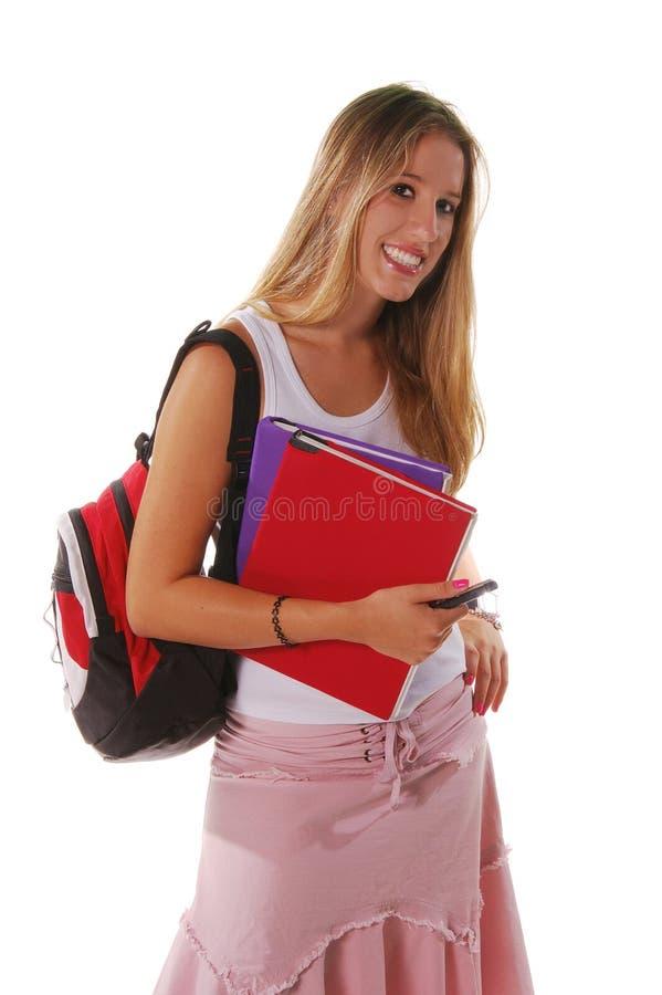 Het Hogere Meisje van de middelbare school royalty-vrije stock afbeelding