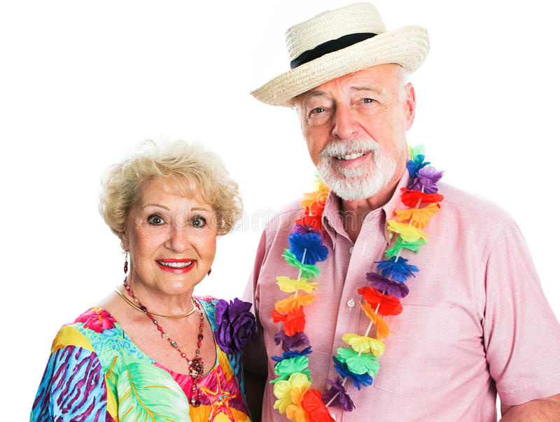 Het hogere Paar neemt een Vakantie stock foto's