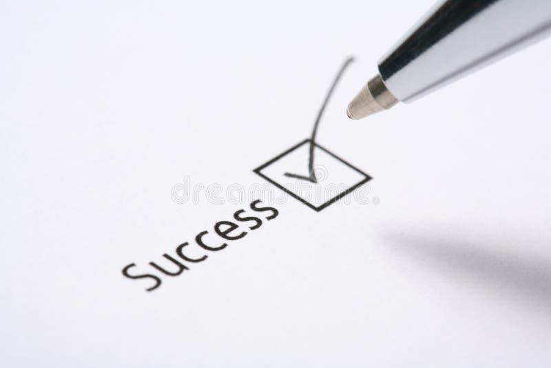 Het hokje van het succes stock afbeelding