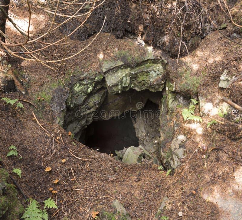 Het hol is een element van de Bescherming van de Lijn van Arpad royalty-vrije stock afbeelding