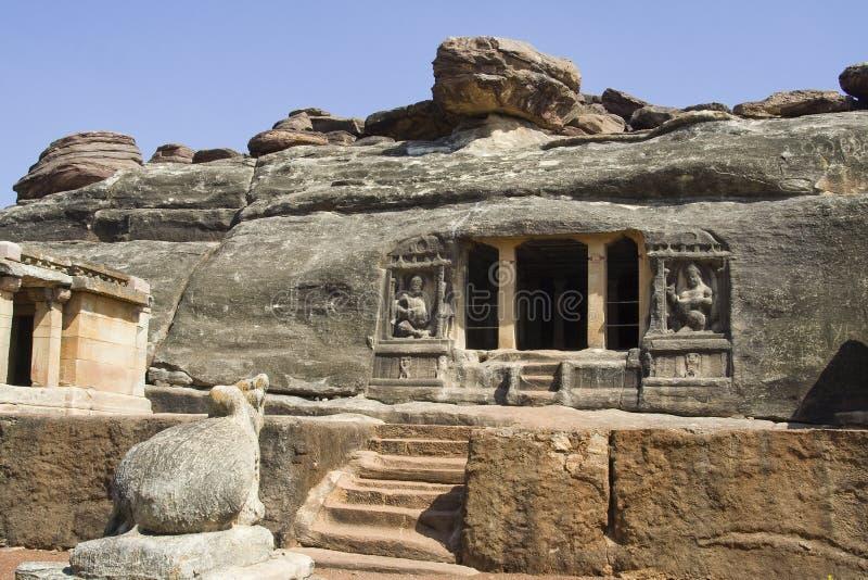 Het Hol van Pahadi van Ravan, Aihole royalty-vrije stock foto