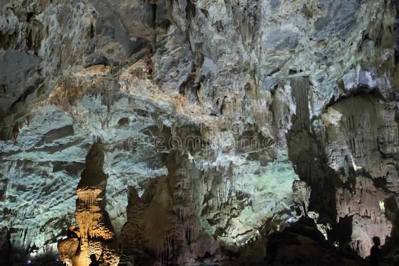 Het Holbinnenland van Phongnha, Vietnam stock afbeeldingen