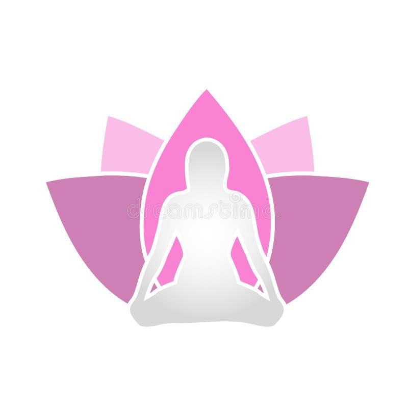 Het Holistic helen door yoga en meditatie royalty-vrije illustratie