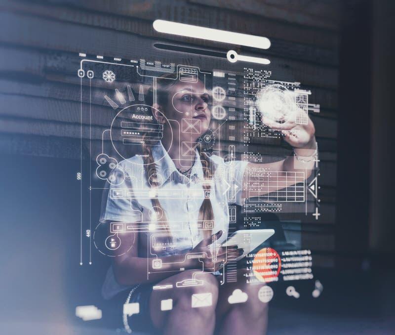 Het hologram dient project in stock afbeelding