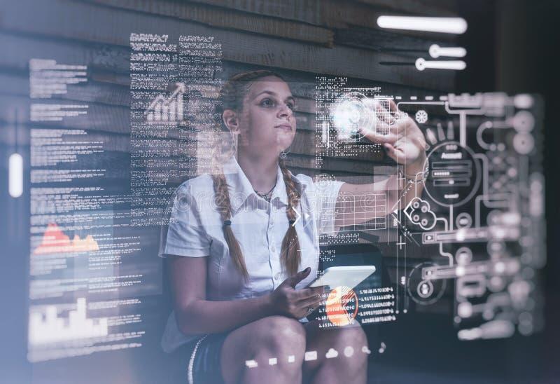 Het hologram dient project in royalty-vrije stock foto