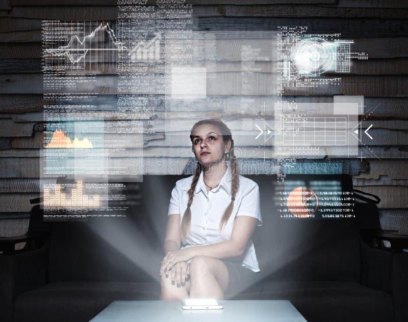 Het hologram dient project in royalty-vrije stock afbeeldingen