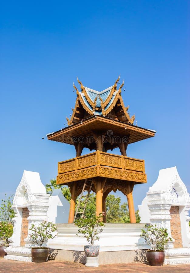 Het holtempel van het klokketoren wat Verbod, Thailand royalty-vrije stock foto