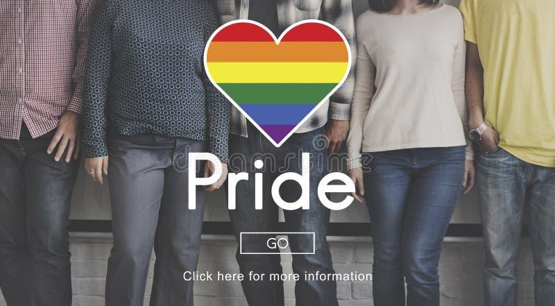 Het Homoseksuele Concept van Pride Queer Gay Transgender Transexual royalty-vrije stock afbeeldingen