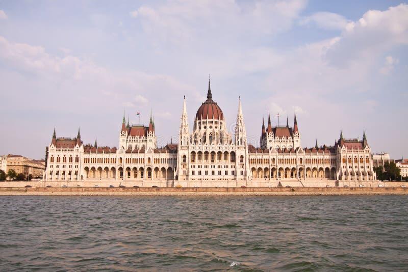 Het Hongaarse parlement, Boedapest, Hongarije royalty-vrije stock afbeelding