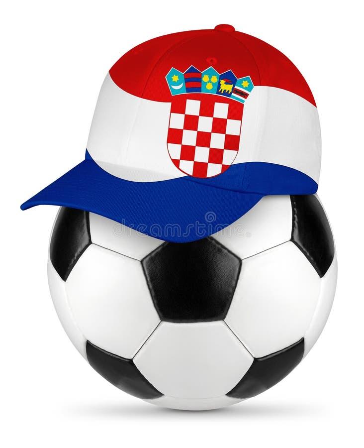 Het honkbal GLB van Kroatië van de voetbalbal royalty-vrije stock afbeelding