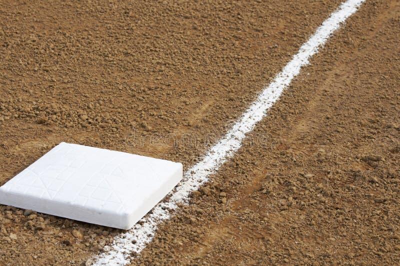 Het honkbal van de basis stock foto's