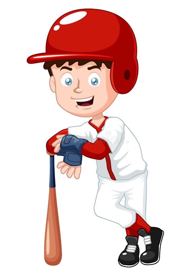 Het honkbalspeler van de jongen vector illustratie