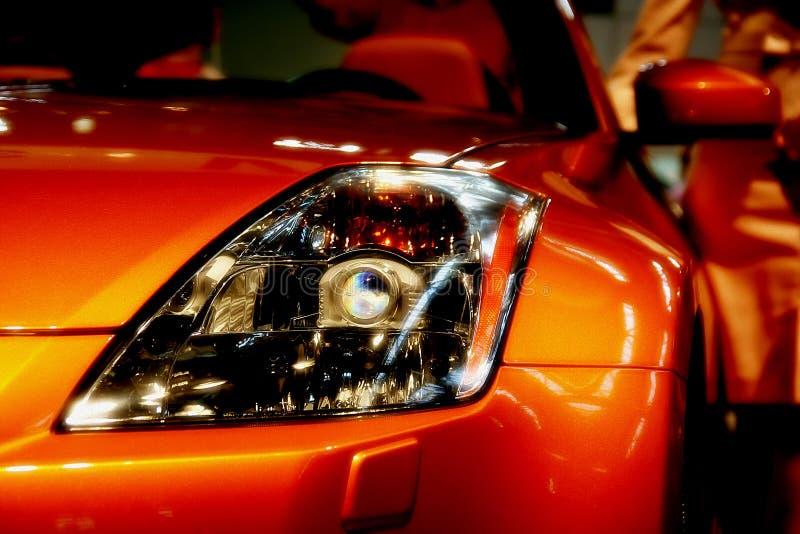 Het hoofd lichte detail van de auto stock afbeeldingen