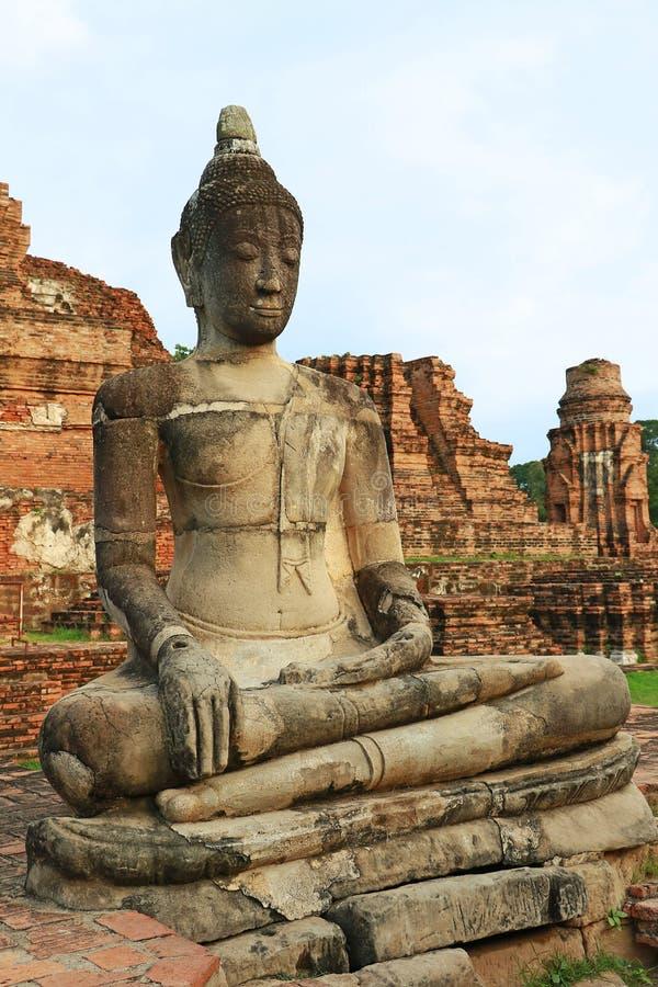 Het Hoofd van Boedha in Boomwortels, Wat Mahathat, Ayutthaya royalty-vrije stock foto