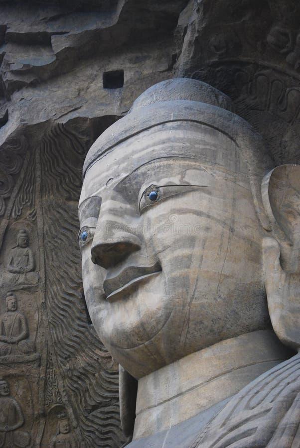 Het hoofd van Boedha van de steen royalty-vrije stock foto